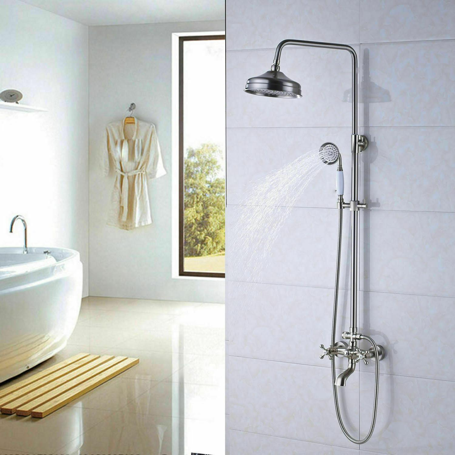 Bathroom Mount Sprayer Tub Mixer Set