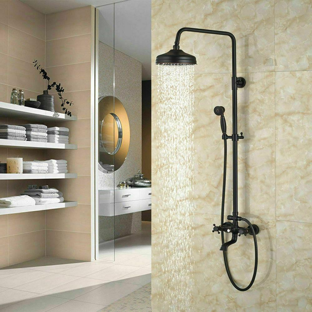 Bathroom Wall Shower Faucet Handheld Sprayer Set
