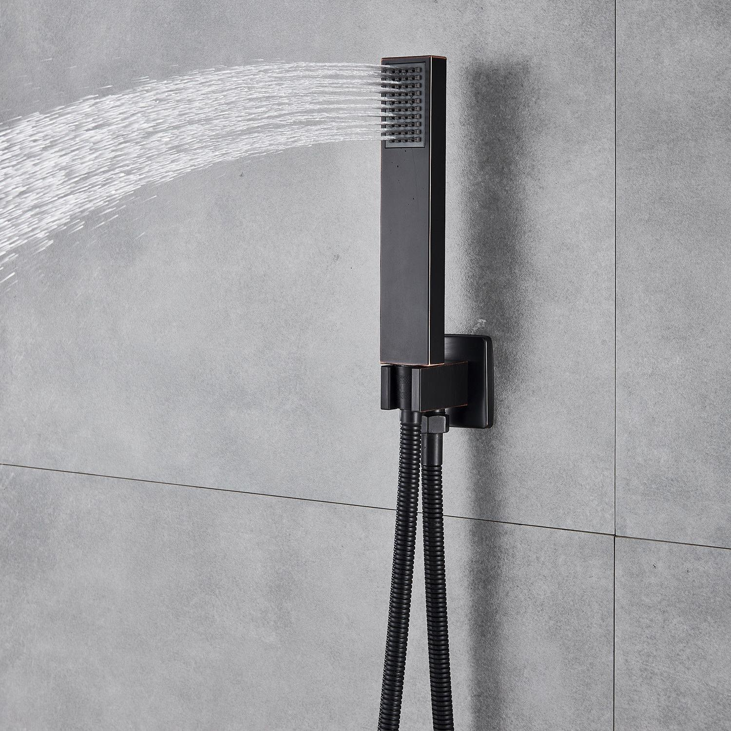 Wall Oil Rubbed Bronze Shower Faucet Shower Head