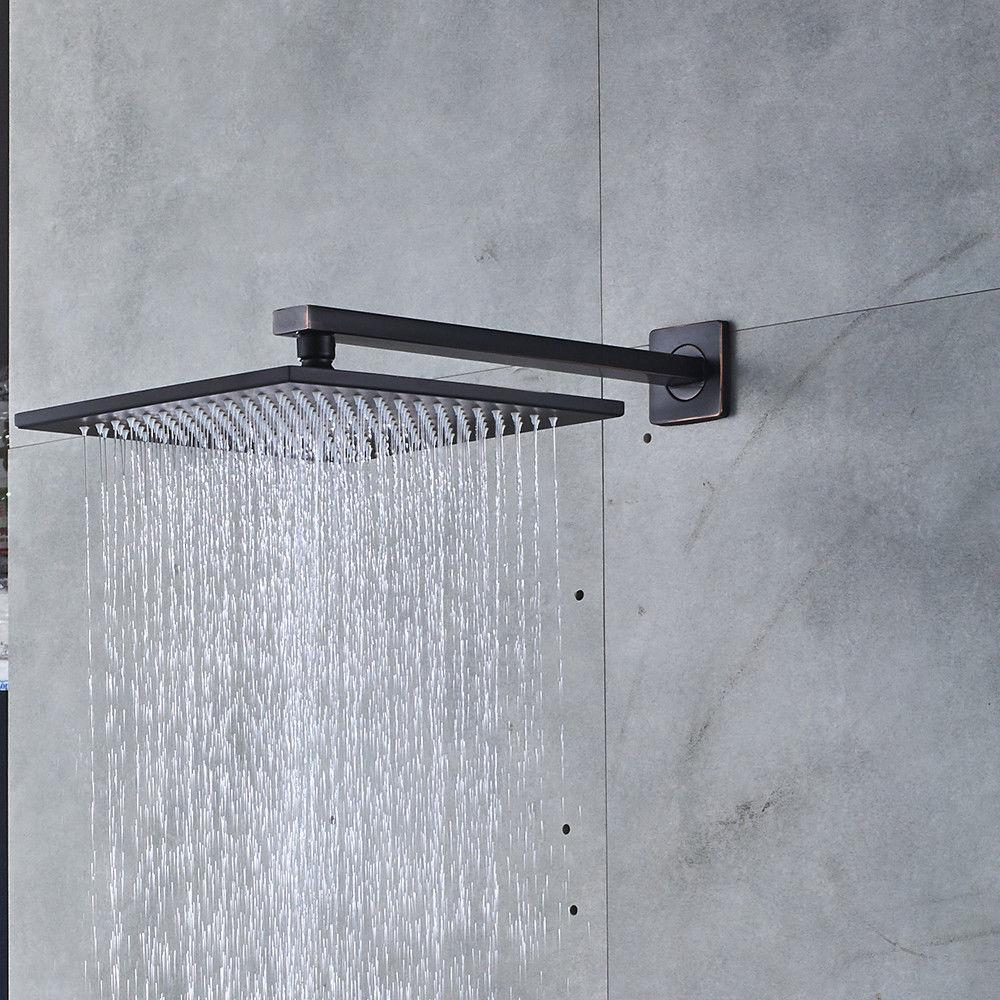 Wall Mounted Rubbed Bronze Shower Head Combo System
