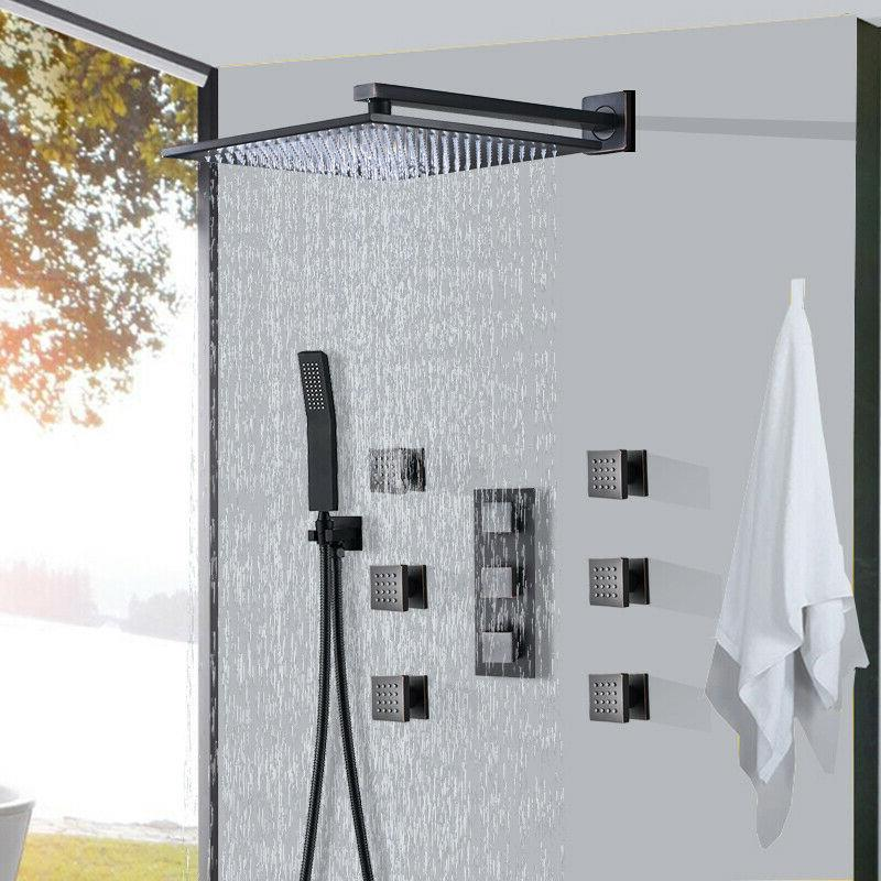wall mount oil rubbed bronze shower faucet