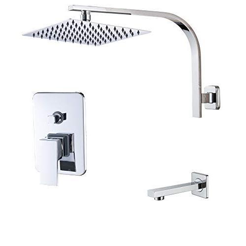 wall mounted bathroom rainfall showerhead