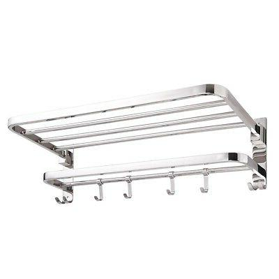 Foldable Stainless Towel Rack Wall Mounted