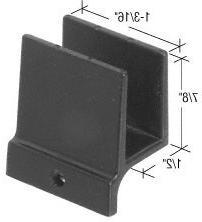 """CRL 1/2"""" Wide Sliding Shower Door Bottom Guide"""