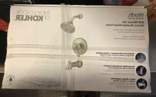 worth single handle shower kit brushed nickel