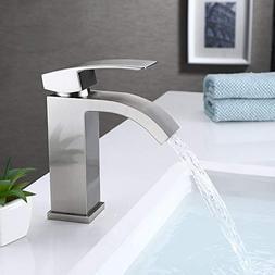 KES cUPC NSF Certified BRASS Single Handle Waterfall Bathroo