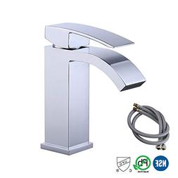 KES NSF Bathroom Waterfall Faucet Single Handle One Hole Lav