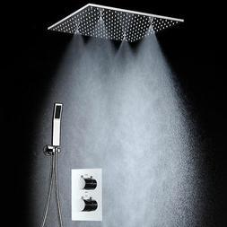 LED Big Rain Shower Faucets Modern Shower Ceiling 20'' Showe