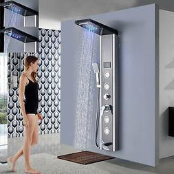 LED Shower Panel Massage Jet Handheld Shower Oil Rubbed Bron
