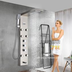 LED Shower Panel Tower Rain&Waterfall Massage Body System Tu