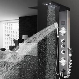 LED Shower Panel Tower System Shower Faucet Fixtures Bathroo