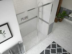 "Legend Series 43""x66"" Hinged Framed Shower Door w/ Inline Pa"