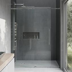 VIGO Luca 56 to 60-in. Frameless Sliding Shower Door with .3