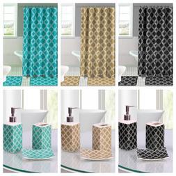 Luxury Bathroom Combo 19 piece Set Ceramic Bath mats Shower