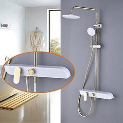 Rozin Luxury Bathroom Rainfall Shower Set Tub Faucet with Ha