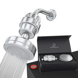 Luxury Filtered Shower Head Set 15 Stage Shower Filter For H
