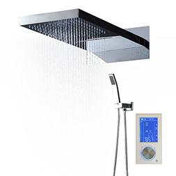 "hm Luxury Massage Shower Set with 22"" Rectangle Waterfall Ra"
