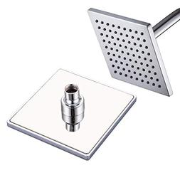 Luxury Square Rain Shower Head with 6-inch Rainfall Face, St
