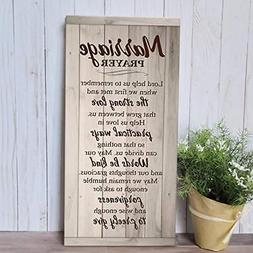 Marriage Prayer Plaque Wood Sign Wedding Decor Unique Gifts