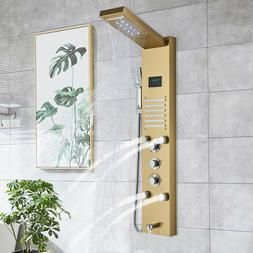 Matte Black 8 inch Shower Faucet Set Rainfall Shower Head wi