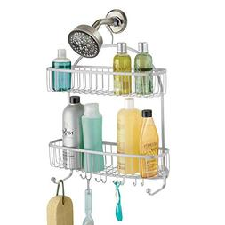 mDesign Extra Wide Bathroom Shower Caddy for Shampoo, Condit