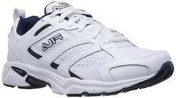 Fila Men's Capture Running Shoes in White/Peacoat/Metallic S