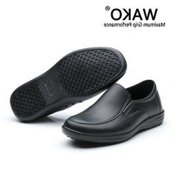 Mens Chef Shoes In Kitchen Nonslip Safety Oil & Water Proof