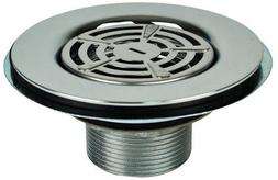 """MOBILE HOME 4-1/2"""" SHOWER DRAIN STAINLESS STEEL"""