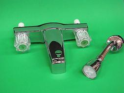 "Mobile Home RV Parts Tub/Shower Faucet ""OFF SET"" 2 Valve Div"