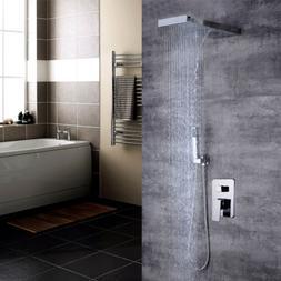 Modern Bath Shower System Concealed Rainfall Waterfall Head