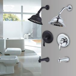 Modern Rainfall Shower Faucet Showerhead Tub Spout and Diver
