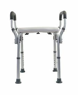 Essential Medical Molded Shower Bench with Arms