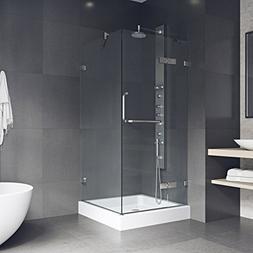 VIGO Monteray 32 x 32-in. Frameless Shower Enclosure with .3
