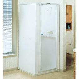 Mustee 142 Durastall 36-in x 36-in Shower Stall with Extende