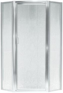 Sterling Neo-Angle Silver Shower Door