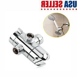"New 1/2"" 3 Way Shower Head Diverter Mount Shower Arm Mounted"