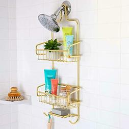 NEW Better Houseware Extra Large Shower Caddy - Gold