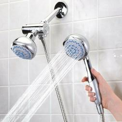 New High Pressure 5 Setting Dual Handheld Shower Head With D