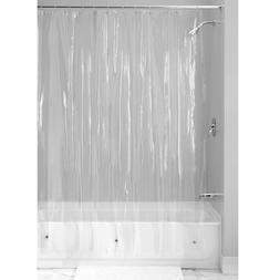 NEW SOLID WATER REPELLENT BATHROOM SHOWER CURTAIN LINER CLEA