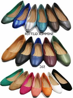 New women lady basic ballet flats slip on loafer  shoes  all