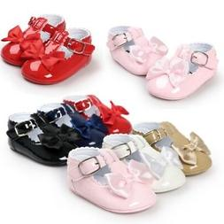 Newborn Baby Girl Bow Anti-slip Crib Shoes Soft Sole Sneaker