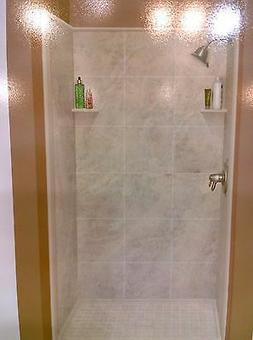 "NIB Elegant  Imitated Granite Solid-Surface 48""-W SHOWER Sur"