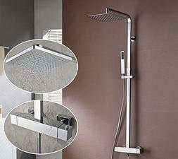 Nezza NST-001-001-CH Rosa Thermostatic Shower, Chrome