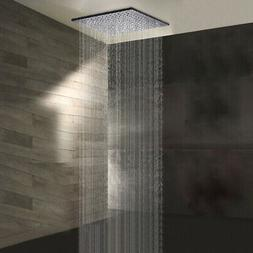 """Oil Rubbed Bronze 16 """"LED Square Rain Shower Head Without  S"""