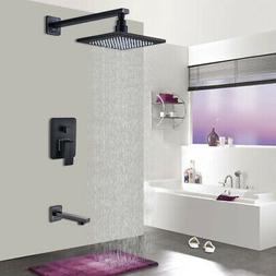 """Oil Rubbed Bronze 8""""Rainfall Shower Faucet Combo Set System"""