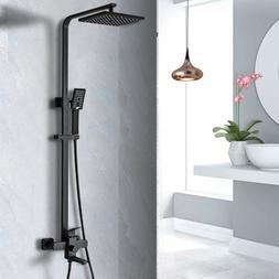 """Rozin Oil Rubbed Bronze Bath Shower Faucet Set 8"""" Rain Showe"""