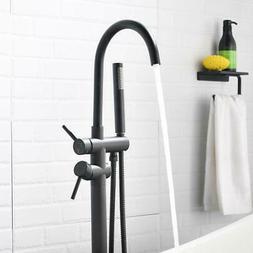 Oil Rubbed Bronze Bathtub Faucet Wall Mount  Mixer Tap w/ Ha
