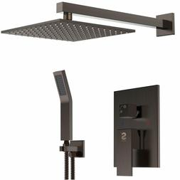 SR SUN RISE Oil Rubbed Bronze Shower System 10 Inch Brass Mo
