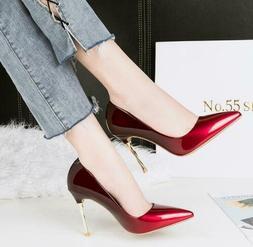 OL Women Ladies Pointed Toe Metal Stiletto High Heels Pumps