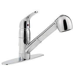 One Handle Centerset Pull-Out Kitchen Faucet - Finish: Chrom